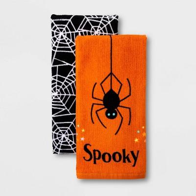 2pk Spider/Web Halloween Terry Kitchen Towel - Hyde & EEK! Boutique™