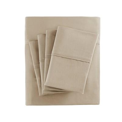 Cotton Blend 6pc Sheet Set 800 Thread Count (King)Khaki