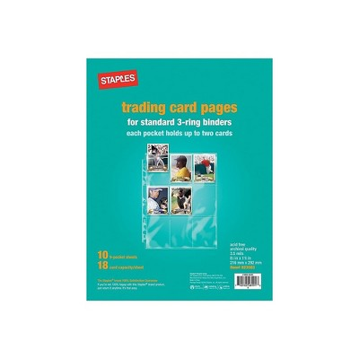 Staples Trading Card Pages 15939-CC