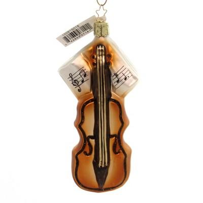 "Inge Glas 5.25"" Violin Ornament Christmas Music Wooden String  -  Tree Ornaments"
