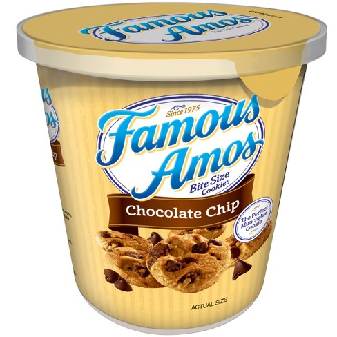 Famous Amos Chocolate Chip Bite Size Cookies Cup- 2.7oz - image 1 of 5
