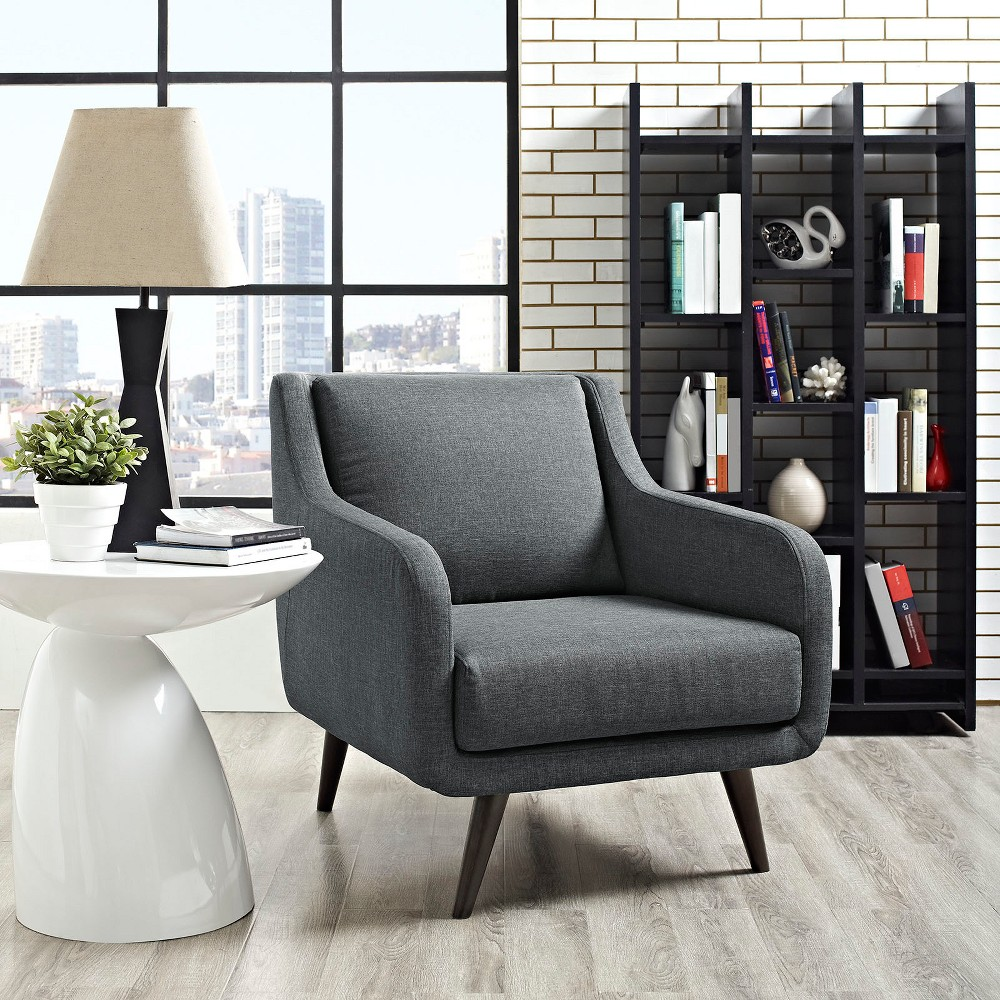 Verve Upholstered Armchair Gray - Modway