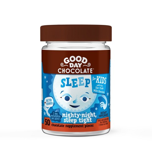 Kid's Good Day Chocolate Sleep Dietary Supplement Chewables - 50ct - image 1 of 1