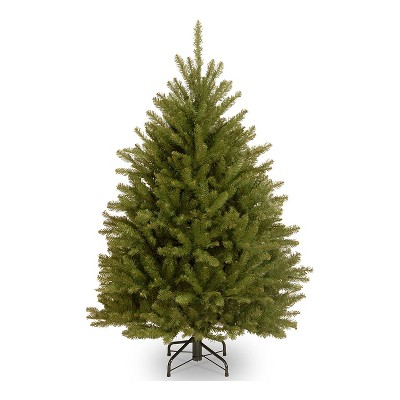 National Tree Company Dunhill Fir 4.5 Foot Unlit Christmas Tree Bundle with Twinkly Bluetooth WiFi 100 LED RGB Color & White 26 Foot String Lights