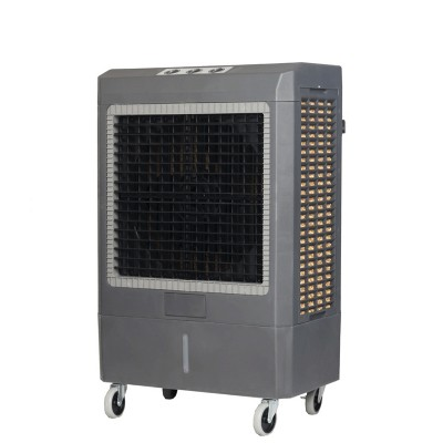 Hessaire 1,600 Sq. Ft. Outdoor Portable 5,300 CRM 3 Speed 14.8 Gallon Evaporative Cooler Humidifier w/ Continuous Auto Fill for Outdoor Use Only, Gray