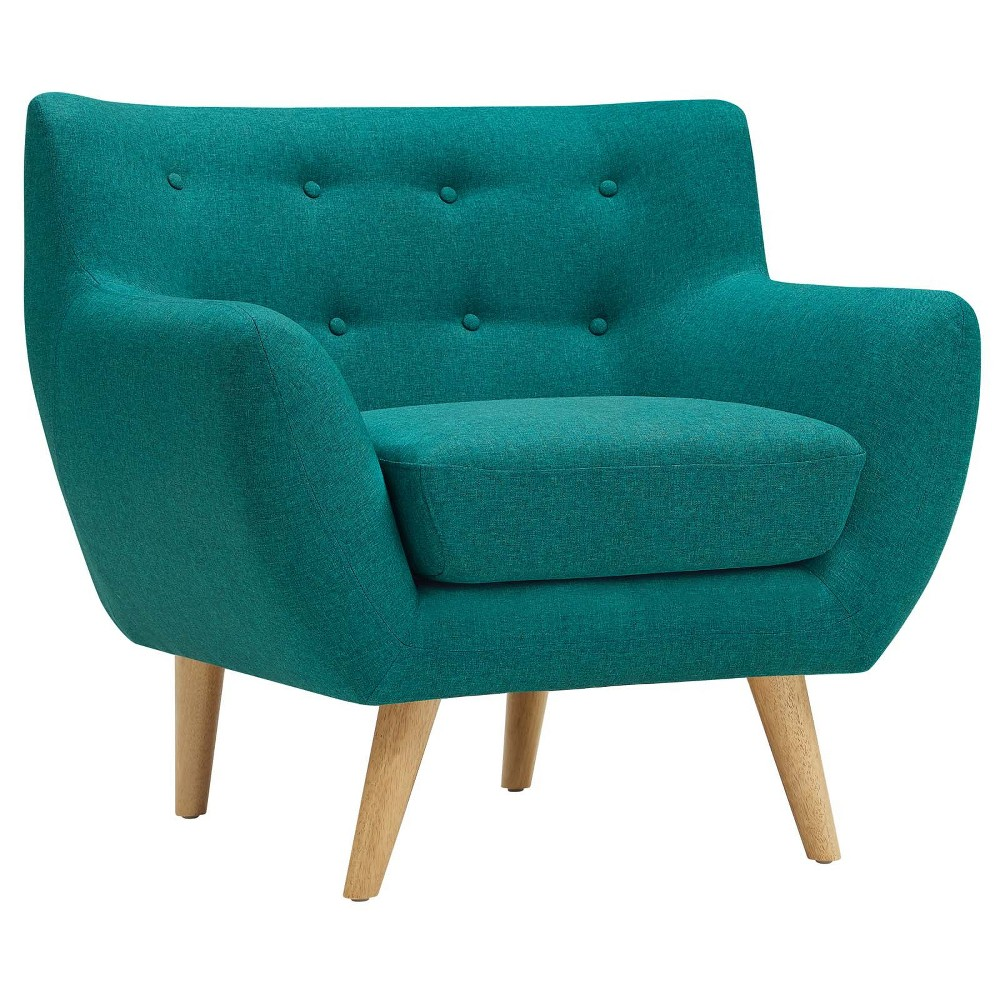 Remark Upholstered Armchair Teal (Blue) - Modway