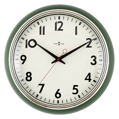 "14"" Schoolhouse Wall Clock Olive - Threshold™"