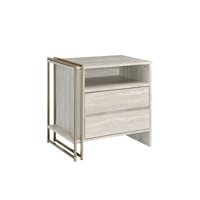 Tyeid Accent Table Antique White/Gold - Acme Furniture
