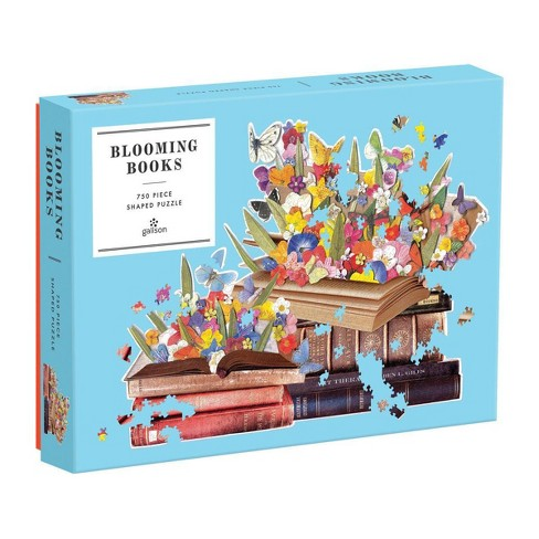 Galison Blooming Books Shaped Puzzle - 750 pc - image 1 of 3