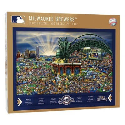 MLB Milwaukee Brewers 500pc Find Joe Journeyman Puzzle