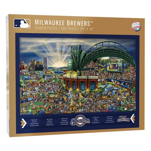 MLB Milwaukee Brewers 500pc Find Joe Journeyman Puzzle - image 1 of 2