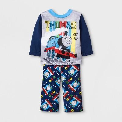 Baby Boys' Thomas & Friends 2pc Poly Pajama Set - Blue 12M