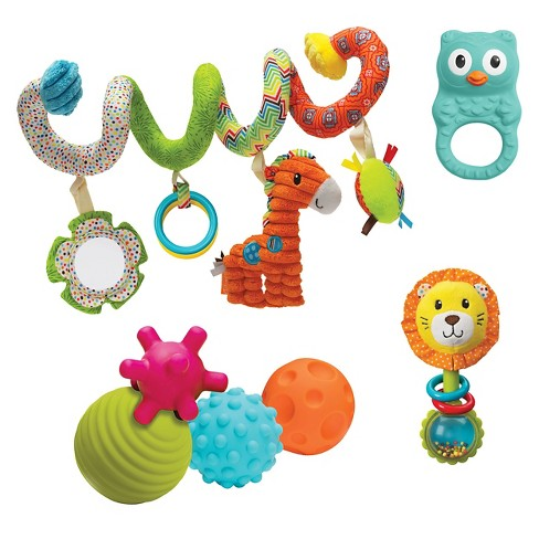 Infantino Go GaGa Spiral, Squeeze, Roll & Rattle Gift Set - image 1 of 5