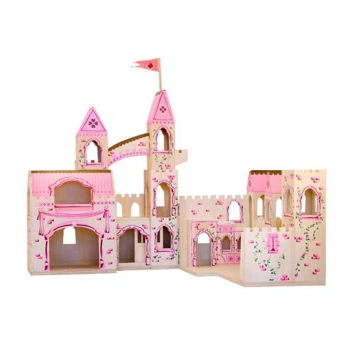 Melissa & Doug Folding Princess Castle Wooden Dollhouse With Drawbridge and Turrets - image 1 of 4