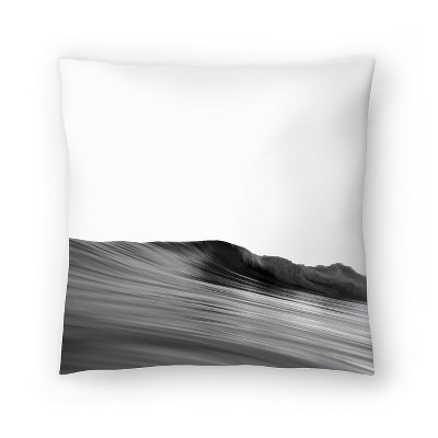 Americanflat Wave Black And White by Nuada Throw Pillow