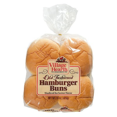 Village Hearth Hamburger Buns - 15oz/8ct