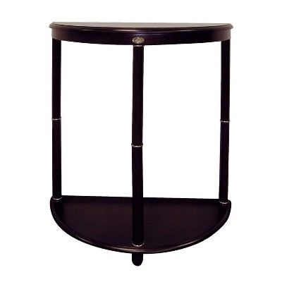 Crescent End Table Espresso Brown - Ore International