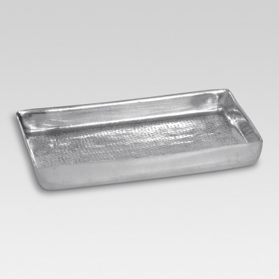 Hammered Texture Metal Soap Dish Silver - Threshold™