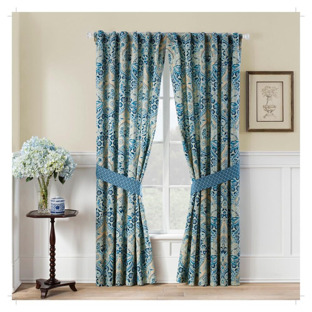Set Of 2 84 34 X50 34 Moonlit Shadows Curtain Panel Blue Waverly