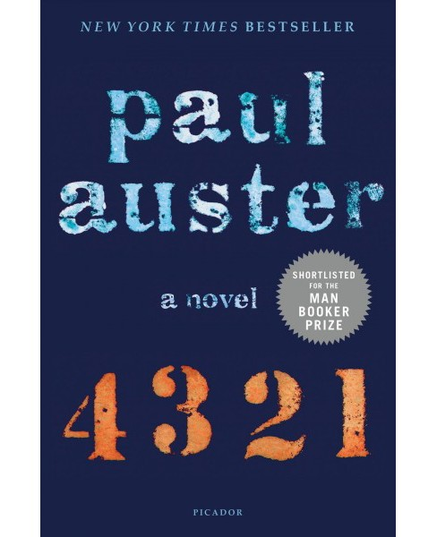 4 3 2 1 -  Reprint by Paul Auster (Paperback) - image 1 of 1