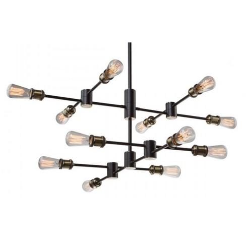 "Artcraft Lighting AC10782 Tribeca 12 Light 36"" Wide Linear Chandelier - image 1 of 1"