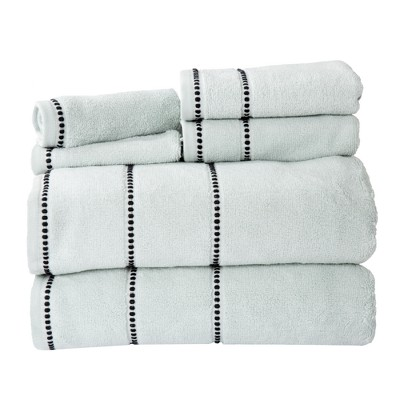 6pc Solid Bath Towel and Washcloth Set Seafoam - Yorkshire Home