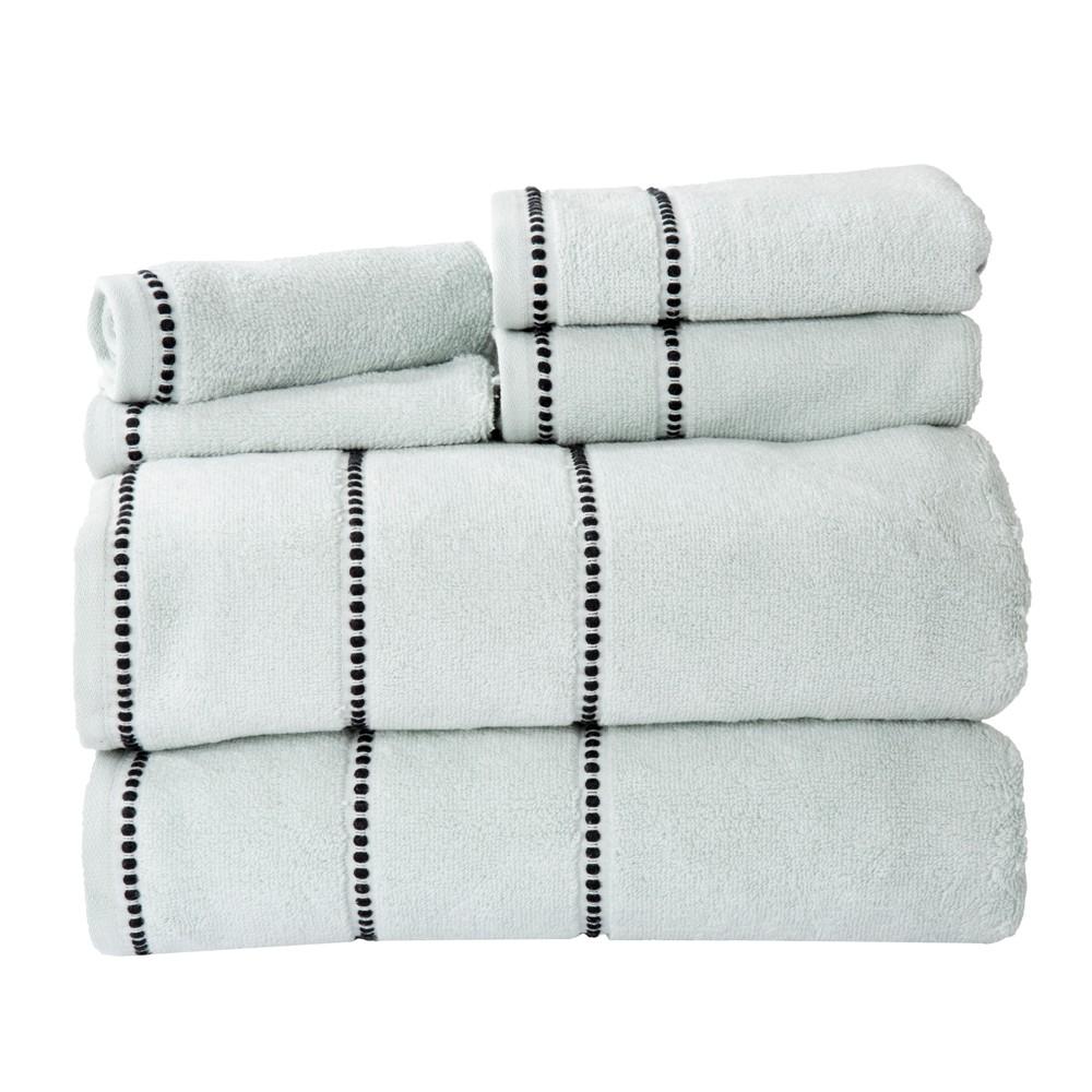 Solid Bath Towels And Washcloths 6pc Seafoam - Yorkshire Home