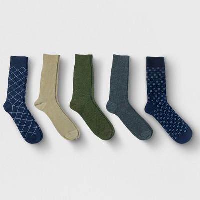 Men's Textured Dress Socks 5pk - Goodfellow & Co™ 10-13