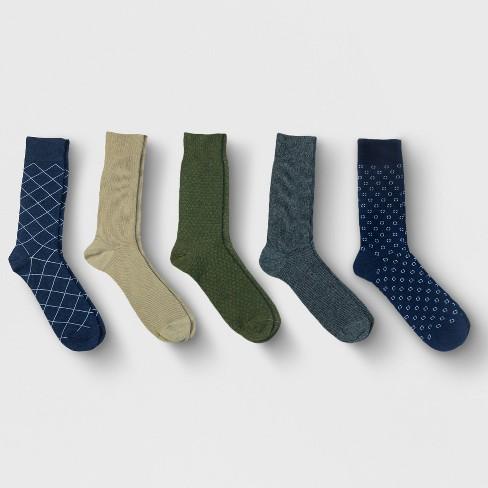 Men's Textured Dress Socks 5pk - Goodfellow & Co™ 10-13 - image 1 of 2