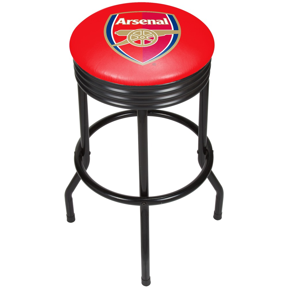 Fifa Premier League Arsenal Ribbed Bar Stool Black, Red