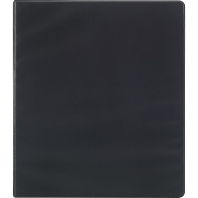 Staples 3-Inch Round 3-Ring Binder Black (26857)