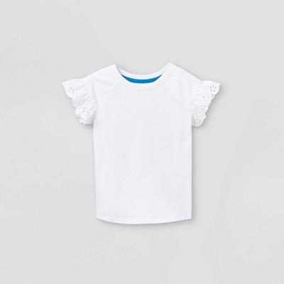 Toddler Girls' Eyelet Short Sleeve T-Shirt - Cat & Jack™