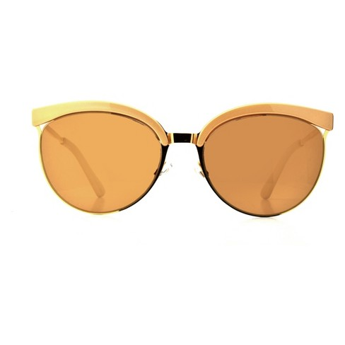 Women's Clubmaster Sunglasses - A New Day™ Bright Gold - image 1 of 1