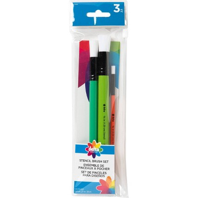 Delta 3ct Stencil Brush Set