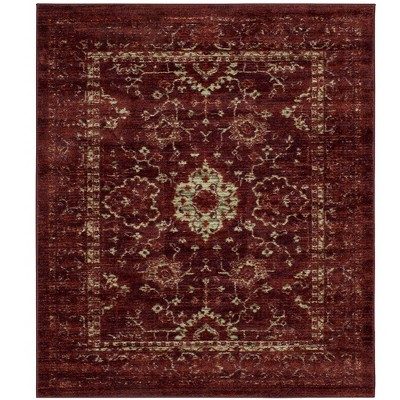 10'x12' Floral Vintage Tufted Distressed Area Rug Red - Threshold™