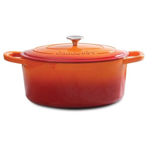 Crock Pot Artisan 7Qt Oval Dutch Oven Orange - image 1 of 1
