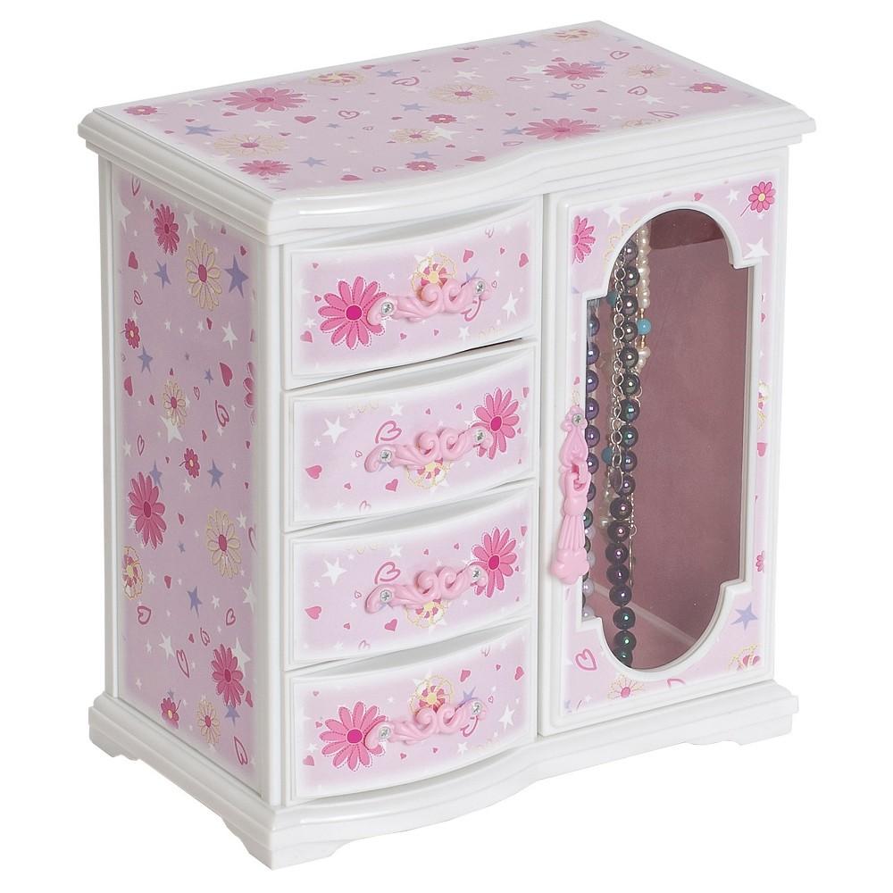 Image of Mele & Co. Dorothy Girls' Glittery Upright Musical Ballerina Jewelry Box - Pink, Women's, Size: Small