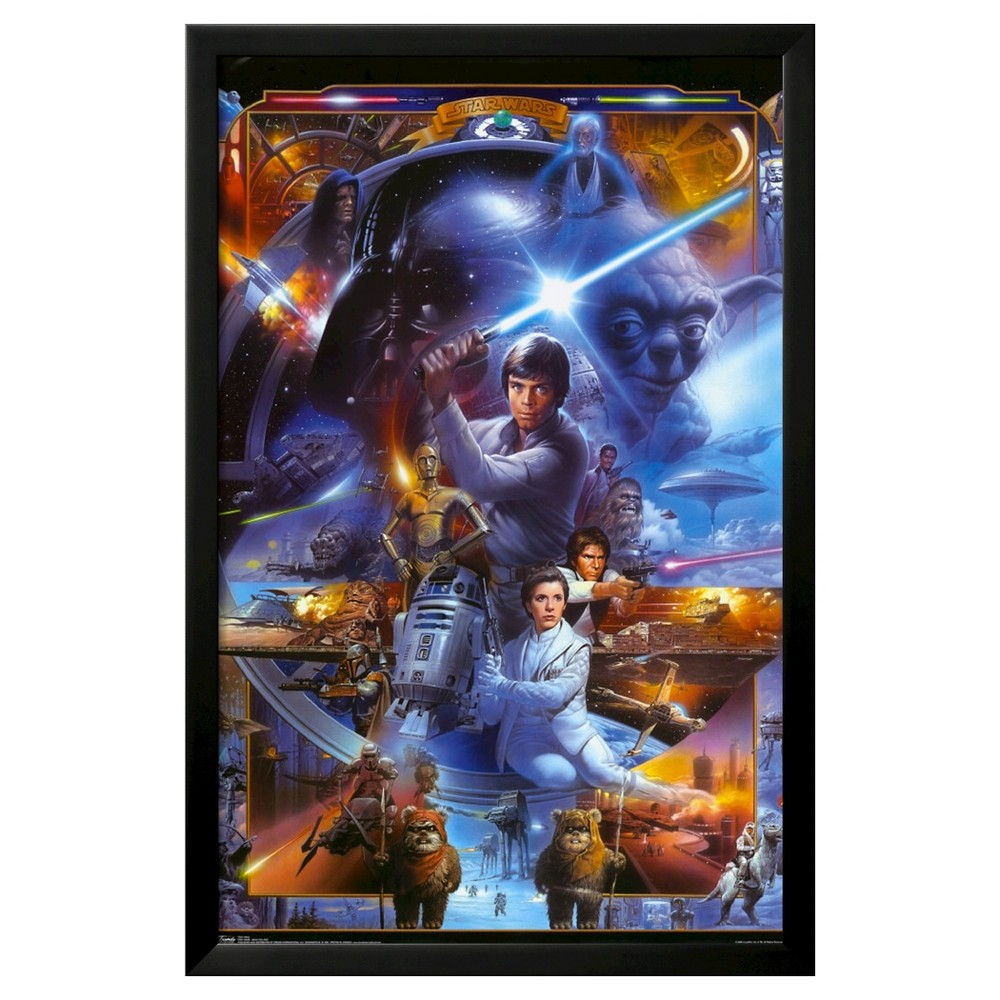 Art.com Star Wars Saga Collage Poster, Blue