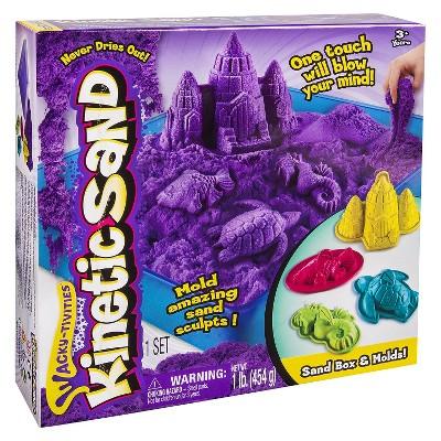 Kinetic Sand Sandbox & Molds (Colors May Vary)