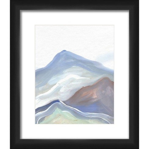 """13"""" x 15"""" Matted to 2"""" Colorfull Mountain Picture Framed Black - PTM Images - image 1 of 4"""