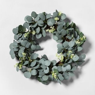 Eucalyptus with Seeds Faux Wreath - Hearth & Hand™ with Magnolia