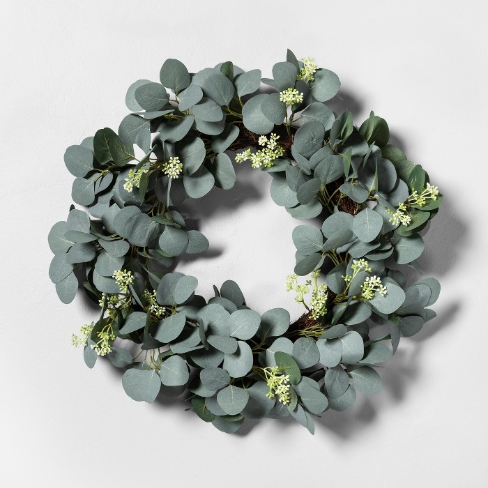 Eucalyptus with Seeds Faux Wreath - Hearth & Hand™ with Magnolia - image 1 of 1