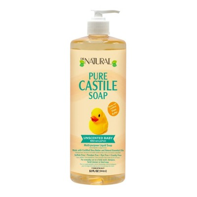 Dr. Natural Pure Castile Soap Mild with Organic Shea Butter - Unscented - 32 fl oz