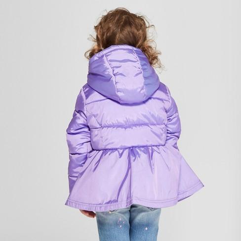 Toddler Girls  Puffer Jacket - Cat   Jack™ Purple   Target 2ef17fa60987
