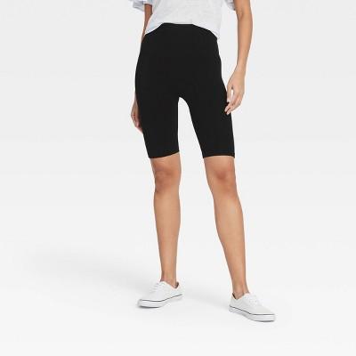 """Women's High-Waist Cotton Blend Seamless 7"""" Inseam Bike Shorts - A New Day™"""