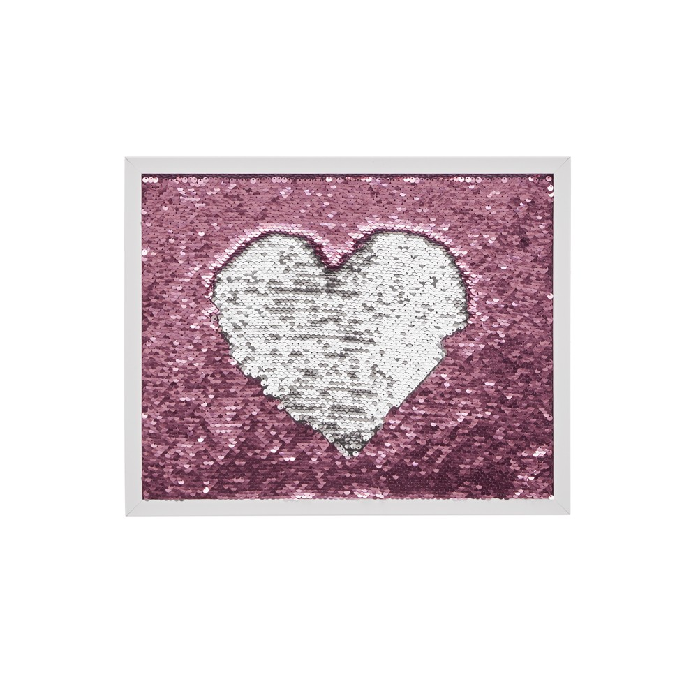 12 x 15 Blush Mermaid Reversible Sequins Message Board Silver