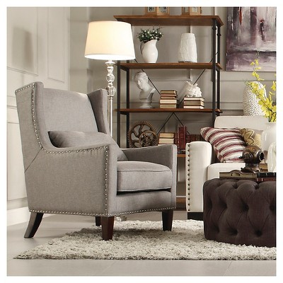 Murray Wingback Arm Chair Gray   Inspire Q