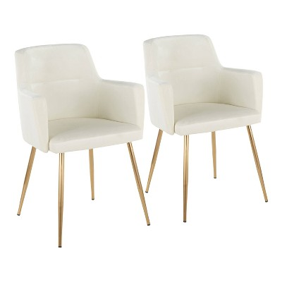 Set of 2 Andrew Contemporary Dining Accent Chairs - Lumisource