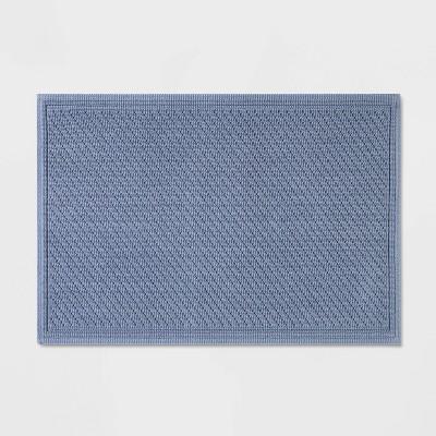 "21""x30"" Performance Solid Bath Mat Blue - Threshold™"