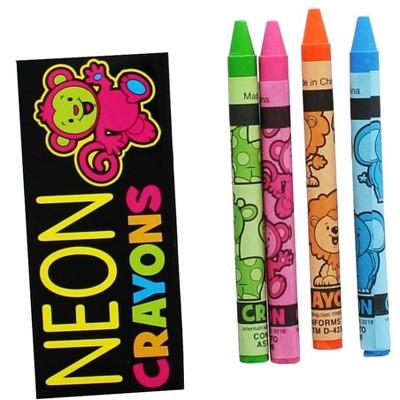 Nerd Block Neon Crayons 4-Pack
